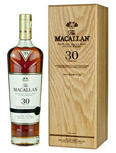 Macallan 30 Year Old Sherry Oak Highland Single Malt Scotch Whisky in Blue Wooden Box, 70 cl