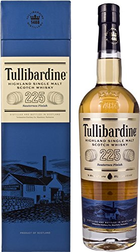 Tullibardine 225 Sauternes Finish Highland Single Malt Scotch Whisky, 70 cl