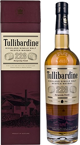 Tullibardine 228 Burgundy Finish Highland Single Malt Scotch Whisky, 70 cl