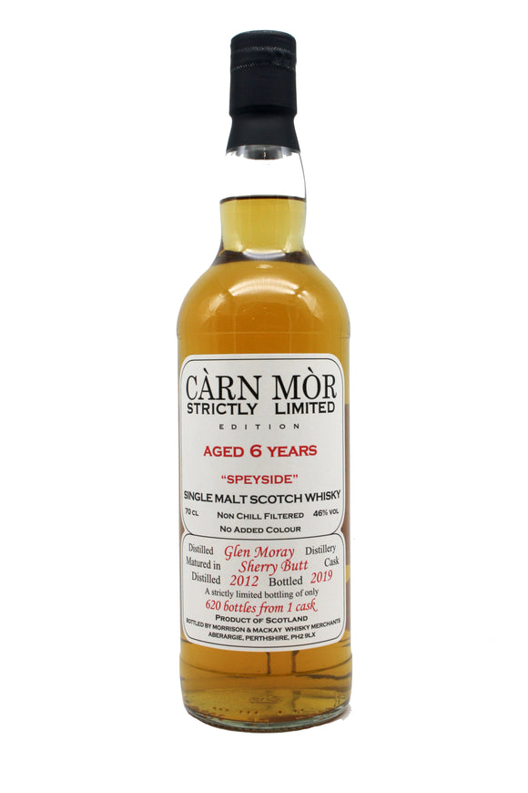 Carn Mor Strictly Limited Glen Moray 6 Year Old 2012