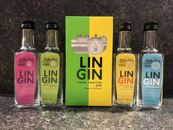 LinGin Colours Gift Pack 4 x 5cl