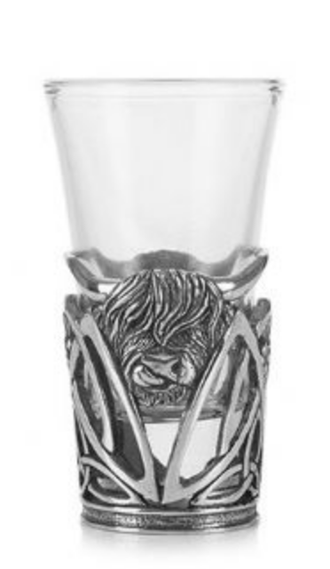 A E Williams Highland Cow Shot Glass