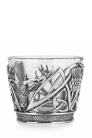 A E Williams Stag and Thistle Tumbler