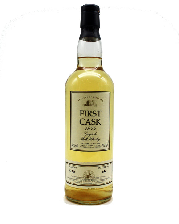 Strathmill First Cask 1974 Speyside Malt Whisky Cask No 1226 Bottle No 150