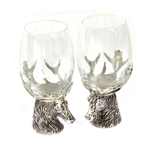 A.E. Stag Wine Glass Pair