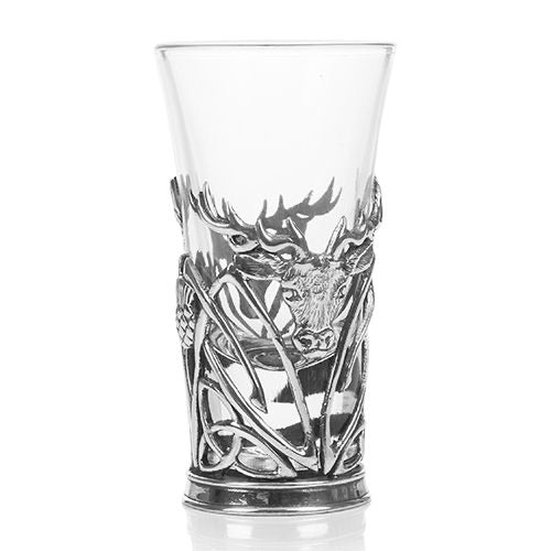 A E WIlliams Stag Shot Glass Holder & Glass