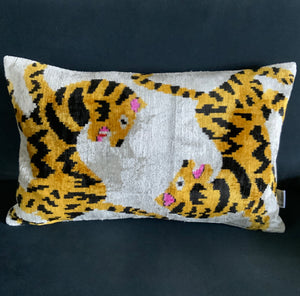 Giant Silk Velvet Bolster Cushion