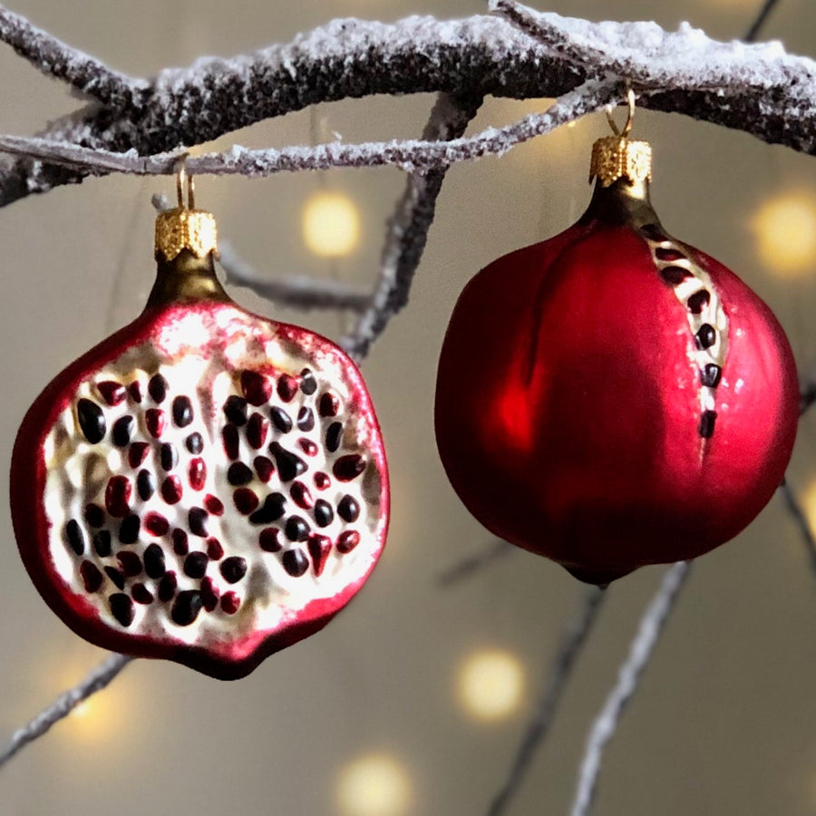 Pomegranate Half Tree Bauble