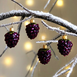 Blackberry Tree Bauble Set