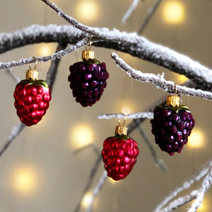 Raspberry & Blackberry Tree Bauble Set