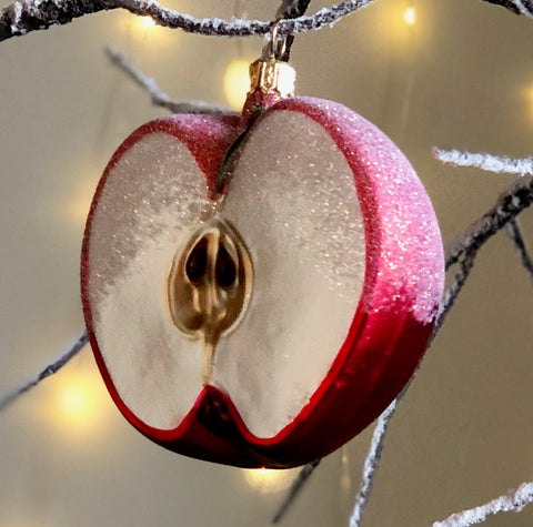 Apple Half Tree Bauble