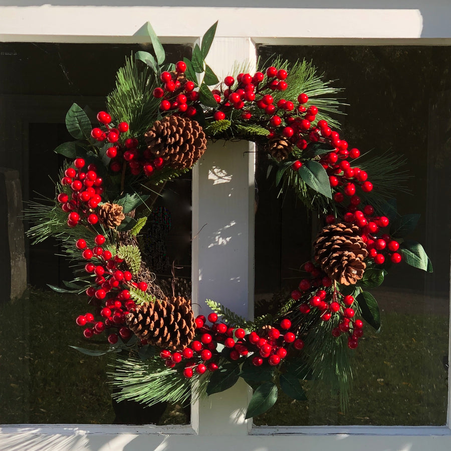 Country House Christmas Door Wreath