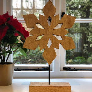 Giant Snowflake on Stand Decoration