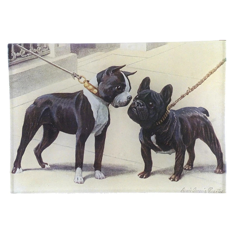 French Bulldog & Boston Terrier Tray by John Derian