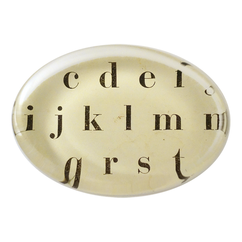 Alphabet Paperweight by John Derian