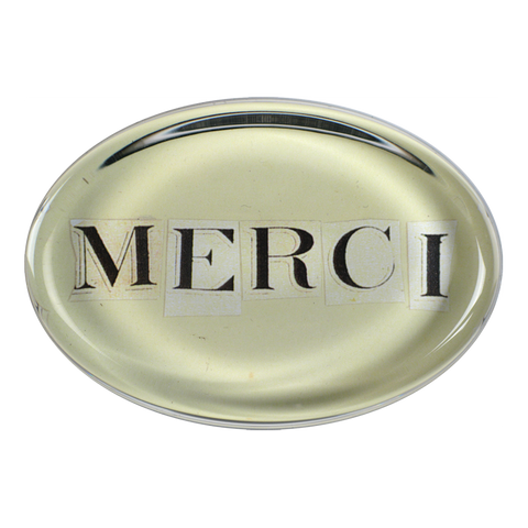 Merci Paperweight by John Derian