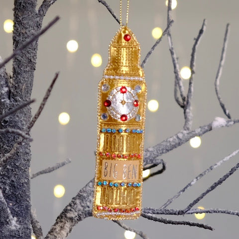 Big Ben Embroidered Tree Decoration