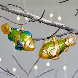 Tropical Fish Tree Bauble Duo
