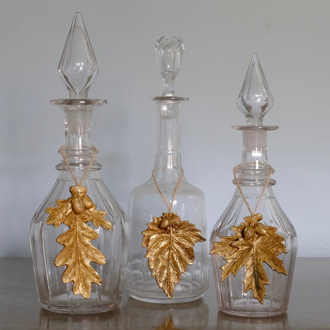 Gold Leaf Decorations Trio