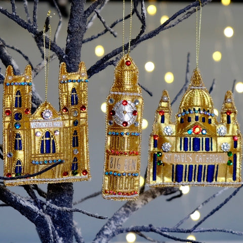 Westminster Abbey Embroidered Tree Decoration