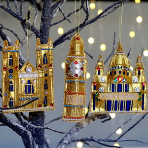 St. Paul's Cathedral Embroidered Tree Decoration