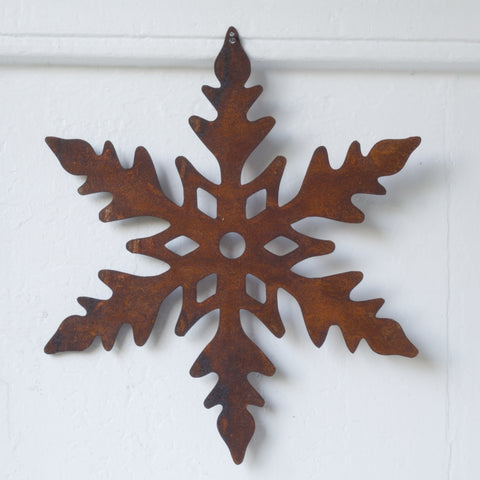 Rusty Metal Snowflakes