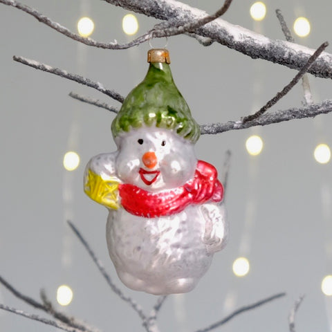 Vintage Snowman Decoration