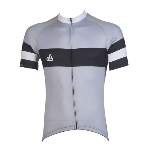 Genova II Grey Cycling Jersey