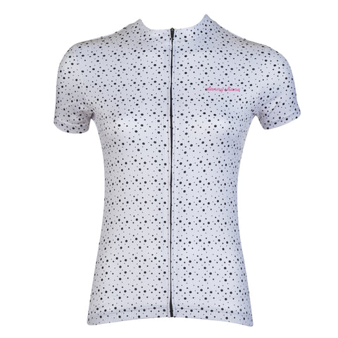Women's Snowbridge White Cycling Jersey