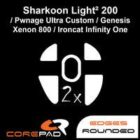 Corepad Skatez Mouse Feet for Pwnage Ultra Custom / Sharkoon Light ² 200 / Genesis Xenon 800 / Ironcat Infinity One / Xenics Titan G Air