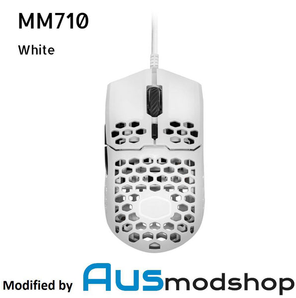 Cooler Master MM710 Matte White modified by Ausmodshop