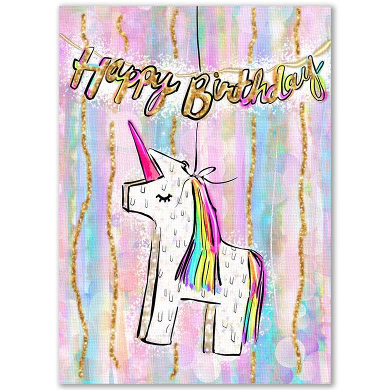 Unicorn Piñata - Happy Birthday