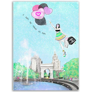 I Left My Heart In Nyc (Washington Square Park Design)