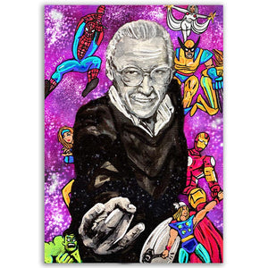 Stan Lee Marvel Portrait