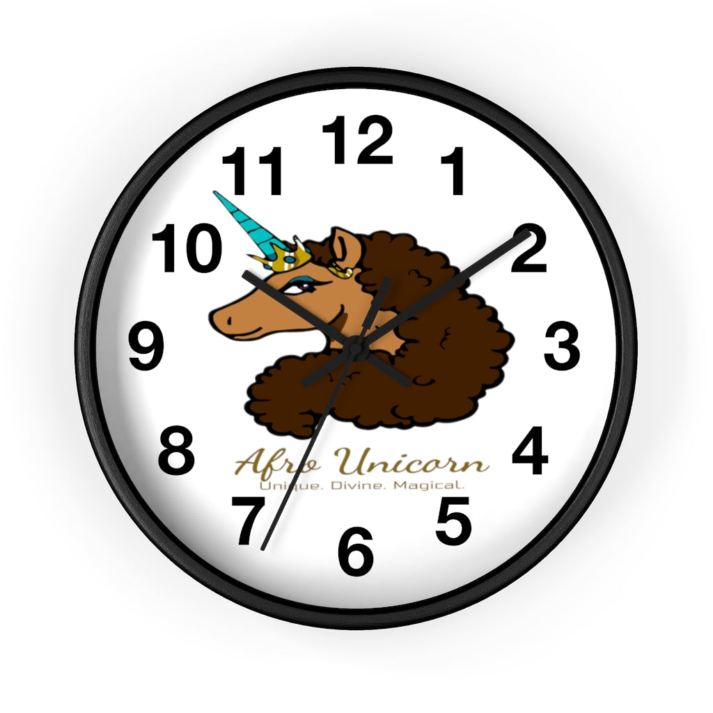 Afro Unicorn Numbered Clock - Vanilla- Afro Unicorn