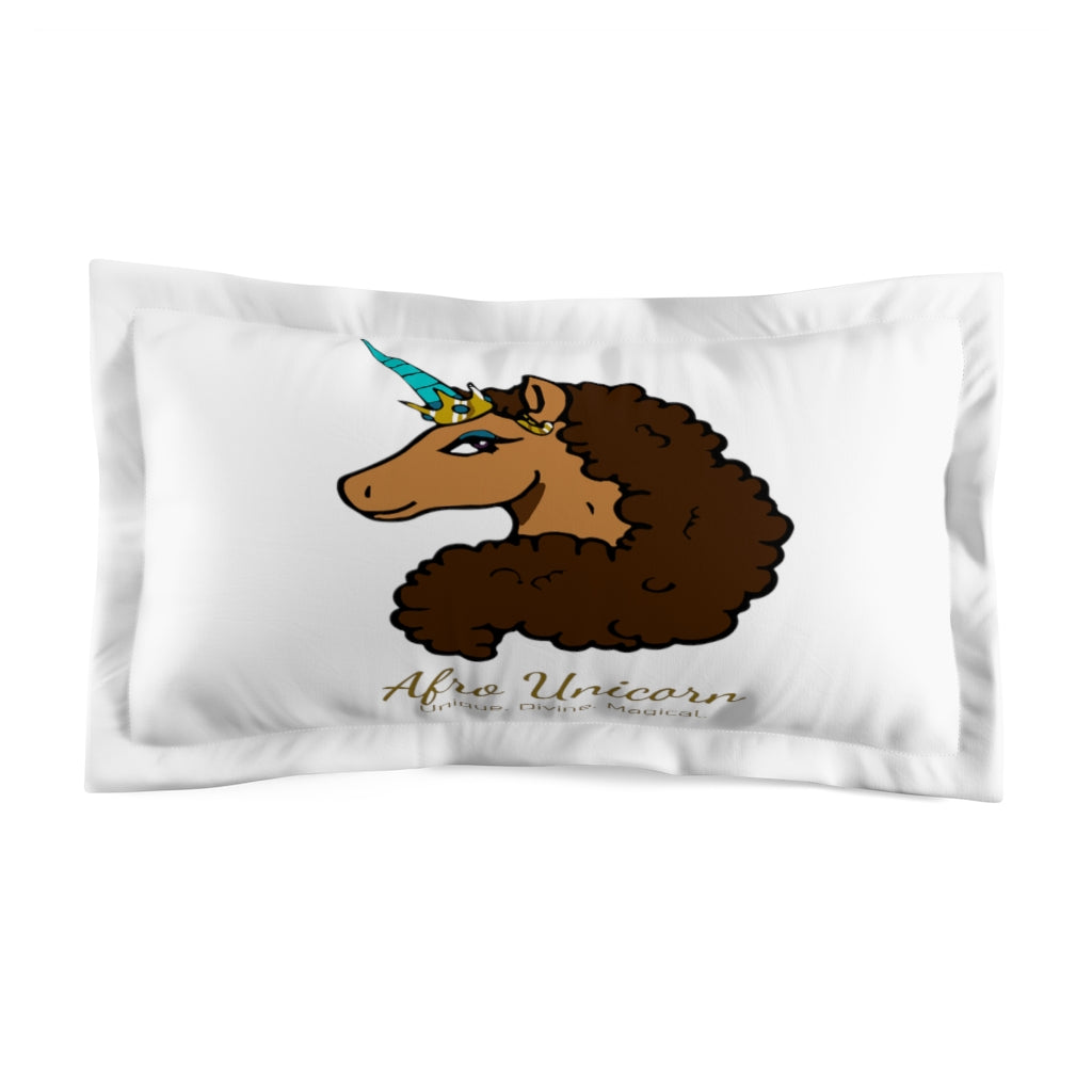 Afro Unicorn Pillow Sham - Vanilla- Afro Unicorn