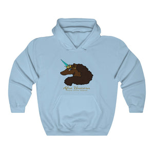 Afro Unicorn Hooded Sweatshirt - Mocha