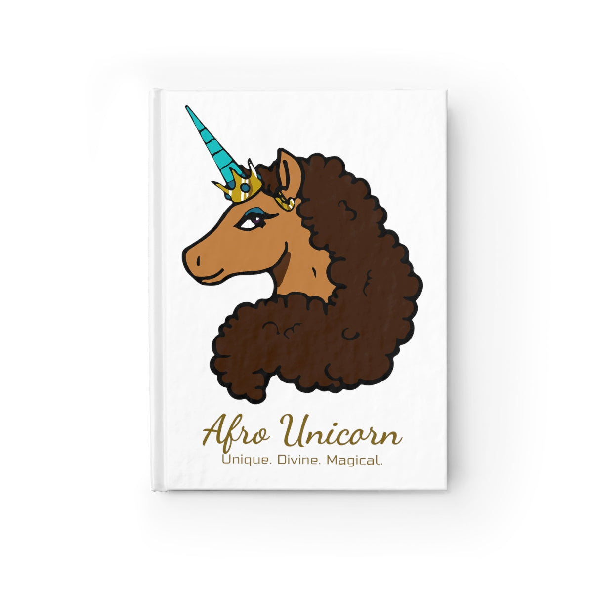 Afro Unicorn Journal - Vanilla- Afro Unicorn