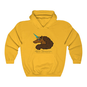 Afro Unicorn Golden Hooded Sweatshirt - Caramel