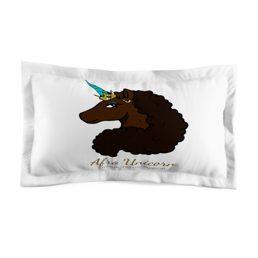 Afro Unicorn Pillow Sham - Mocha- Afro Unicorn