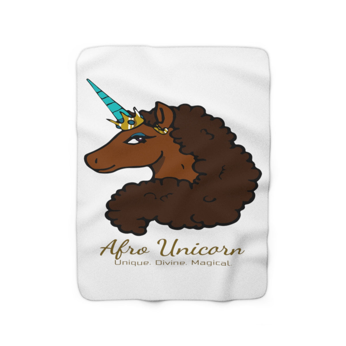 Afro Unicorn Fleece Blanket - Caramel- Afro Unicorn