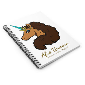 Afro Unicorn Spiral Notebook - Vanilla- Afro Unicorn