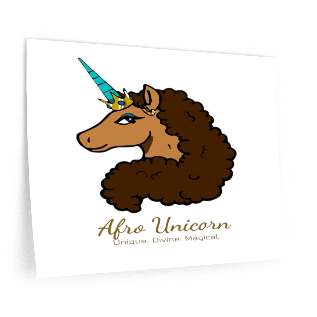 Afro Unicorn Wall Decals - Vanilla- Afro Unicorn