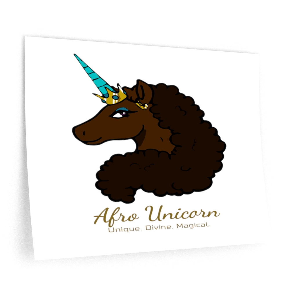 Afro Unicorn Wall Decals - Mocha- Afro Unicorn