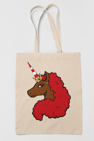 Afro Unicorn Special Edition Tote Bag - Red