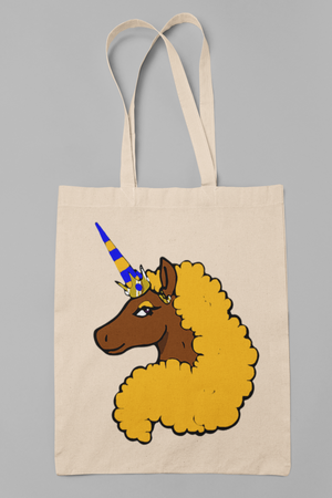 Afro Unicorn Gold