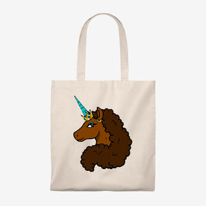 Afro Unicorn Tote Bag - Caramel- Afro Unicorn