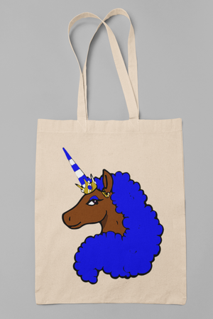 Afro Unicorn Blue