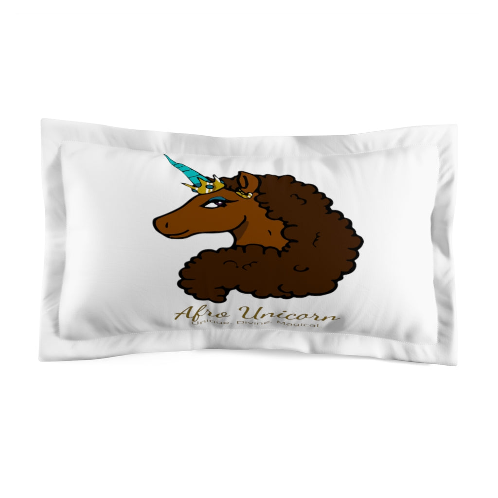 Afro Unicorn Pillow Sham - Caramel- Afro Unicorn