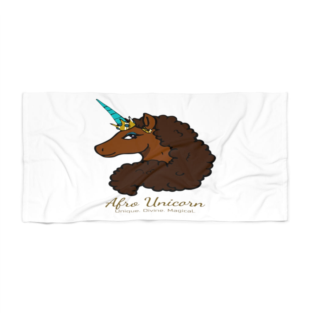 Afro Unicorn Beach Towel - Caramel- Afro Unicorn